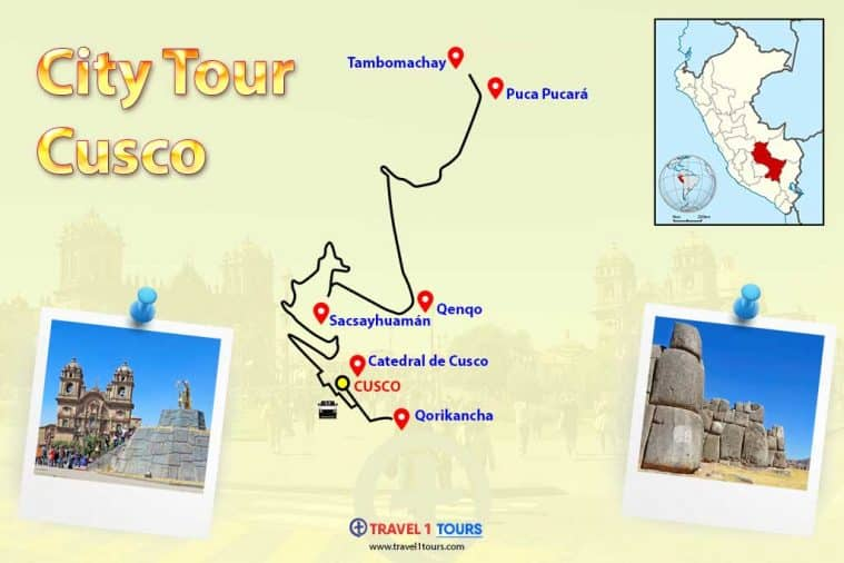 Mapa del City Tour Cusco