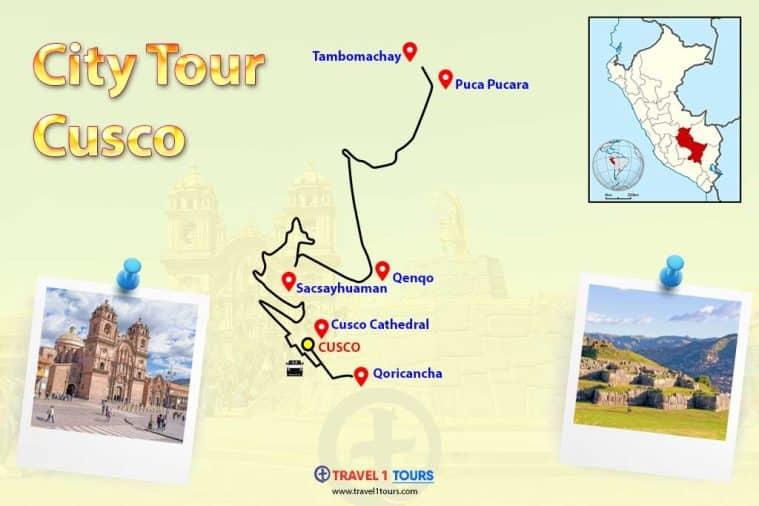 Map of City Tour Cusco