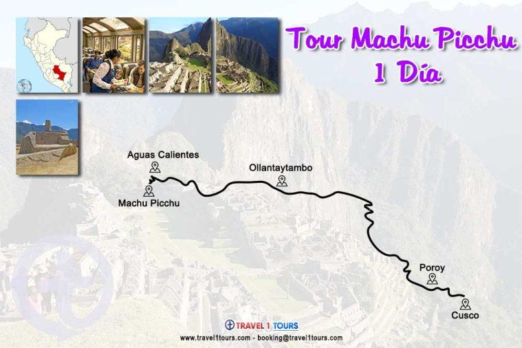 Mapa del tour Machu Picchu 1 Día